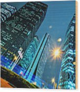 Urban Nightscape Series Wood Print