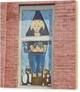 Urban Window 2 Wood Print