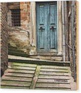 Urbino Door And Stairs Wood Print