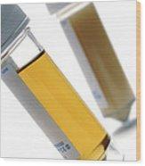 Urine Samples Wood Print