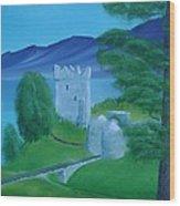 Urquhart Castle Wood Print