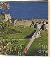 Urquhart Castle On Loch Ness Wood Print