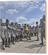 U.s. Air Force 86th Security Forces Wood Print by Stocktrek Images
