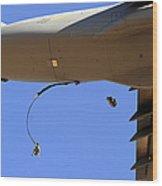 U.s Air Force Airmen Parachute Wood Print
