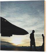U.s. Air Force Airmen Prepare Wood Print