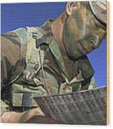 U.s. Air Force Lieutenant Reviews Wood Print