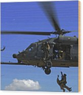 U.s. Air Force Pararescuemen Wood Print