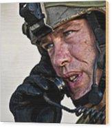 U.s. Air Force Sergeant Calls Wood Print
