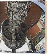 U.s. Air Force Technician Hydraulically Wood Print