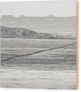 U.s. Alt-89 At Vermilion Cliffs Arizona Bw Wood Print