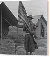 U.s. Army, African American Soldier Wood Print