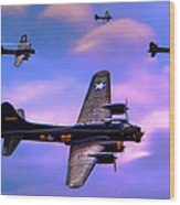 Us Army Air Corps B17g Flying Fortress Wood Print
