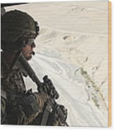 U.s. Army Captain Looks Out The Door Wood Print