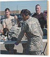 Us Army First Responders Use A Table Wood Print