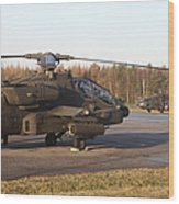 U.s. Army Helicopters At The Letzlingen Wood Print