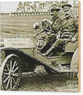 Us Army Huppmobile 1910 Wood Print