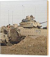 U.s. Army M2 Bradley Infantry Fighting Wood Print