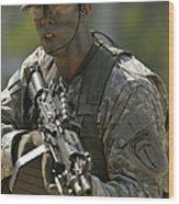 U.s. Army Ranger Wood Print