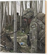 U.s. Army Soldier Communicates Possible Wood Print