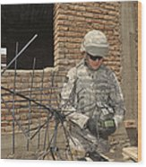 U.s. Army Soldier Configures Wood Print
