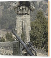 U.s. Army Soldier Gets Information Wood Print