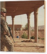 U.s. Army Soldier Pulls Security Wood Print