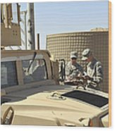 U.s. Army Soldiers Take Accountability Wood Print
