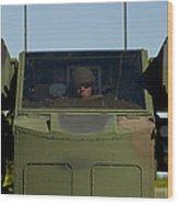 U.s. Army Specialist Operates An Wood Print