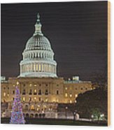 U.s. Capitol Christmas Tree 2009 Wood Print