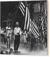 Us Civil Rights. Demonstrators Wood Print by Everett