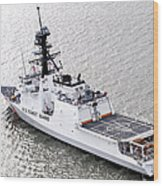 U.s. Coast Guard Cutter Stratton Wood Print