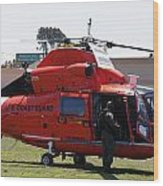 Us Coast Guard Helicopter Wood Print