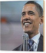 U.s. Democratic Presidential Candidate Wood Print by Everett