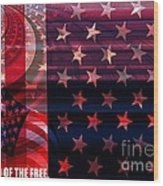 U.s Is On The Continent Wood Print