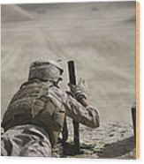 U.s. Marine Clears A Pk General-purpose Wood Print