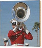 U.s. Marine Corps Drum And Bugle Corps Wood Print