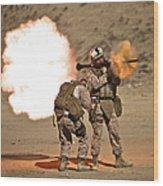 U.s. Marine Fires A Rpg-7 Grenade Wood Print