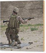 U.s. Marine Prepares A Fragmentation Wood Print