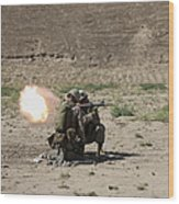 U.s. Marines Fire A Rocket-propelled Wood Print