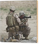 U.s. Marines Prepare A Fragmentation Wood Print