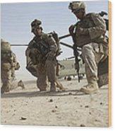 U.s. Marines Unloading Wood Print