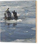 U.s. Navy Diver Signals He Is Okay Wood Print