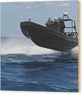 U.s. Navy Sailors Operate A Nine-meter Wood Print