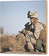 U.s. Navy Soldier Participates Wood Print