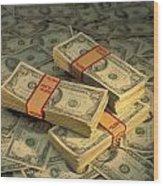 U.s. Paper Money Wood Print