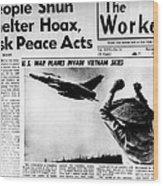 Us Planes Invade Vietnam Skies. An Wood Print by Everett