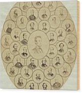 U.s. Senators Who Voted Aye On The 13th Wood Print by Everett