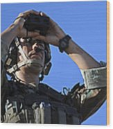 U.s. Special Operations Soldier Looks Wood Print