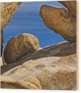 Usa, California, Joshua Tree National Park, Arch Rock Wood Print