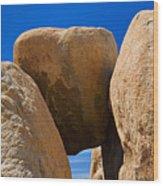 Usa, California, Joshua Tree National Park, Desert Rocks Wood Print
